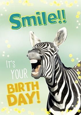 A4 Grußkarte Smile!! It's your birthday!