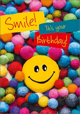 A4 Grußkarte Smile! it's your Birthday!