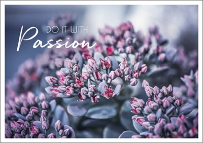 Postkarte Do it with Passion